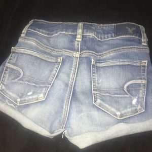 American Eagle distressed/ripped denim shorts